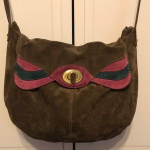 Aldo Brown Suede Handbag